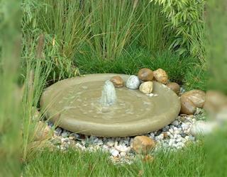 Wasserschale mit Fontäne Ø 80 cm