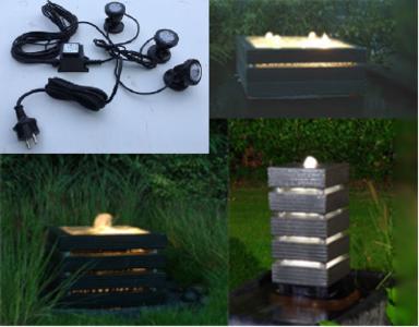 Beleuchtungsset für die Wasserelemente (30x30 cm; 50x50 cm; 70x70 cm)